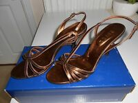 8a284333f5bb Ravel Metallic Gold Strappy Slingback Stiletto Sandals