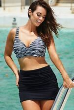 NEW! SWIMSUITS FOR ALL SZ 14  TUMMY CONTROL SHIRRED SWIMSKIRT W/ ATTACHED BRIEF