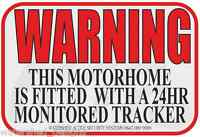 MotorHome Tracking Sticker Tracker Sticker campervan Warning Security Qty 3