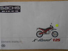 New Genuine Sachs X-Road 125 Owners Manual gh
