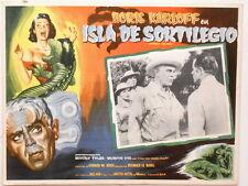 Voodoo Island Isla De Sortilegio Boris Karloff Horror Lobby Card Poster 1957