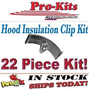 Fits 72 73 74 75 76 Roadrunner Charger Duster Dart Plastic Hood Insulation Clip
