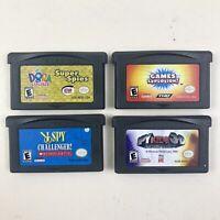 Nintendo Gameboy Advance GBA Lot of 4 Spy Themed Games - Dora, I Spy, Spy Kids