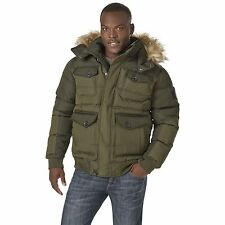 Men's Rocawear Hooded Bubble Parka Olive 3XL #NJG12-500
