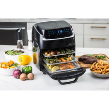 Air Fryer 10 Qt. Black with Recipe Book Bake Fry Grill Kitchen Cooking Appliance