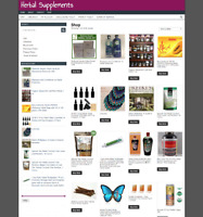 FULLY STOCKED HERBAL SUPPLEMENTS WEBSITE - ONE YEARS HOSTING - domain- ecommerce