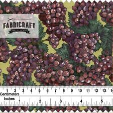 Red Grapes - 100% cotton fabric 1 metre