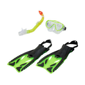 Divers Adult/Kid Snorkeling/Snorkelling Youth Set Mask+Snorkel+Fins Xmas Gift AU