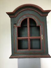Vintage Small Wall-Mounted Wooden cupboard. Double Shelf