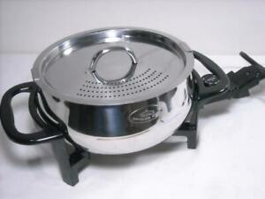 VINTAGE RIVAL STAINLESS STEEL 3.5 QT. FONDUE POT FD350