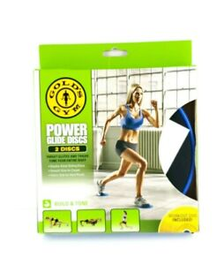 Gold's Gym Power Glides Discs Target Glutes Thighs Tone All Your Body USA Seller