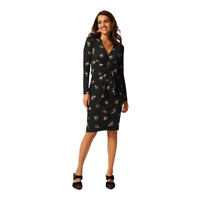Marks & Spencer M&S Collection Floral Print Bodycon Dress Black Size 8