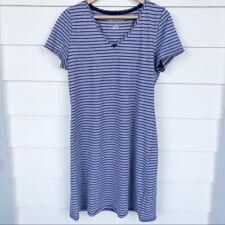 Nautica Short Sleeve Striped Sleep Shirt Womens Large