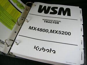 Kubota Tractor MX4800 MX5200 Workshop Service Repair Manual Book Catalog OEM
