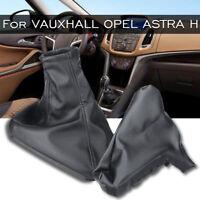 1 Set Black Handbrake + Gear Shift Stick Boot Gaiter For VAUXHALL OPEL ASTRA H