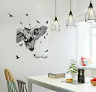 Removable Night Traveller Owl Wall Sticker Mural Wallpaper Decal Home Decor Eh