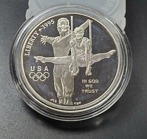 1995 P Olympic Rings Blind Gymnast Dollar Commemorative Coin