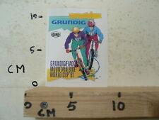 STICKER,DECAL GRUNDIG  FIAC MOUNTAIN BIKE WORLD CUP 1991 CYCLING  BMX A