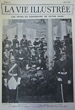 JOURNAL LA VIE ILLUSTREE N° 177 de 1902 LES FETES DU CENTENAIRE DE VICTOR HUGO