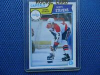 1983 O-PEE-CHEE ROOKIE SCOTT STEVENS CAPITALS NICE CONDITION