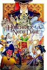THE HUNCHBACK OF NOTRE DAME Original Movie Poster - DISNEY Double Sided 27x40