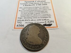 X103 Chile 1807 4 Reales VG