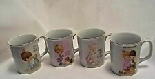 4 Precious Moments Theme Coffee Beverage Mugs Cups Enesco
