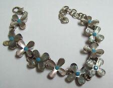BRIGHTON Flower Bracelet - Mother of Pearl  Turquoise & Silvertone