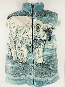 Black Mountain Outdoor ~ Womens Small Zip Up Fleece ~ Polar Bear Vest