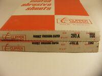 Clipper Abrasives 280 Grit Sandpaper 9 x 11 Sheets NOS 200 Sheets More or Less
