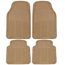 4PC Rubber Liner for Hyundai Sonata Floor Mats Beige All Weather Semi Custom Fit