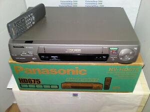 PANASONIC NV-HD675 VHS VCR Video Recorder - Hi-Fi- Nicam-Tape Libarary-Front A/V