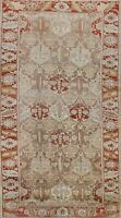 Antique Geometric Bakhtiari Wool Traditional Oriental Hand-Knotted Area Rug 7x13
