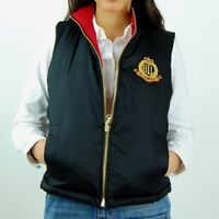 NWT Polo Ralph Lauren  WOMENS FULL ZIP UP REVERSIBLE DOWN/FEATHER VEST  #76