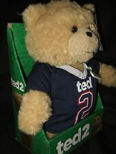 "Ted 2 Movie Explicit Language Talking 11"" Plush Teddy Bear Doll Patriots T Shirt"