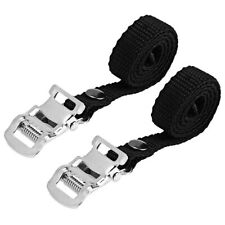 Bike-Cycle-Bicycle Mtb Foot Toe Clip Straps Pedal Nylon Pair Clips Replacement