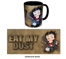 BETTY BOOP BIKER COFFEE MUG  BETTY BOOP COFFEE MUG 11oz. EAT MY DUST