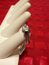 Christmas Special 1 CARAT  CUBIC ZIRCONIA & HEARTS  RING  SIZE 8
