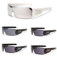 Locs OG Shades Men Metal Rim Designer Bad Boy Sunglasses Black White Mirror Lens