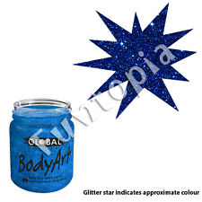 Global Colours 45ml Jar Navy Blue Cosmetic Glitter, Face Painting, Tattoo, craft