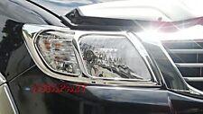 CHROME COVER HEAD LIGHT LAMP LH+RH FOR TOYOTA HILUX VIGO CHAMP 2012+ MK7 PICKUP