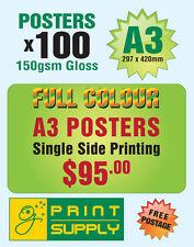 100 A3 poster printing on 150sm Gloss