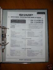 Manuel de service pour Sharp dx-111h/112H cd-playeroriginal