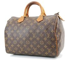 Authentic LOUIS VUITTON Speedy 30 Monogram Boston Handbag Purse #36293