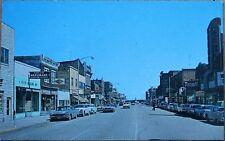 International Falls, MN 1950s Chrome Postcard: Main Street - Minnesota Minn