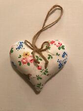 Vintage retro Heart door Hanger made with Cath Kidston Roses / Birds Fabric