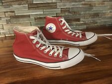 CONVERSE Unisex Chuck Taylor All Star High Top Red (M 7 / W 9) Lightly Used