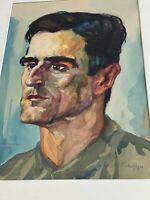 Gustav JÄGER (1874-1957) - AQUARELL MÄNNER PORTRAIT AUS DEM JAHR 1919