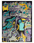 18 x 24 Original Painting ArtbyBillytheRobot Inspired by Keith Haring Basquiat