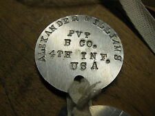 World War 1 Ww1 dog tags with custom stamping